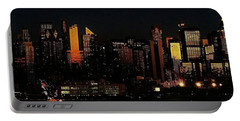 Portable Battery Charger featuring the photograph Twilight Reflections On New York City by Lilliana Mendez