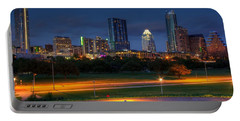 Portable Battery Charger featuring the photograph Twilight Skyline by Dave Files
