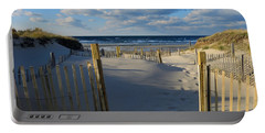 Portable Battery Charger featuring the photograph Golden Hour Beach by Dianne Cowen