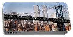 Twin Bridges Twin Towers - New York Portable Battery Charger