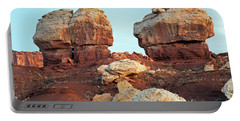 Twin Rocks At Sunrise Capitol Reef National Park Portable Battery Charger