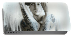 Anthony Kiedis - ' Twisting And Turning Your Feelings Are Burning ' Portable Battery Charger by Christian Chapman Art