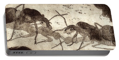 Two Ants In Communication - Etching Portable Battery Charger