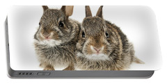 Two Baby Bunny Rabbits Portable Battery Charger