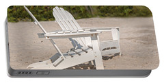Portable Battery Charger featuring the photograph Two Beach Chairs by Charles Beeler
