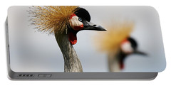 Two Black Crowned Cranes Portable Battery Charger