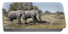 Two Bull African Elephants - Okavango Delta Portable Battery Charger