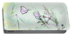 Portable Battery Charger featuring the photograph Two Butterflies by Patricia Griffin Brett