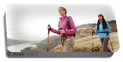 Two Females  Hiking In The Columbia Portable Battery Charger