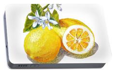 Two Happy Lemons Portable Battery Charger by Irina Sztukowski