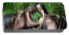 Two Hippopotamuses Hippopotamus Portable Battery Charger