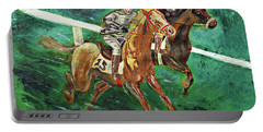 Two Horse Race Portable Battery Charger