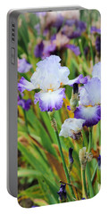 Portable Battery Charger featuring the photograph Two Iris by Patricia Babbitt