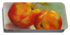 Two Peaches Portable Battery Charger by Michelle Abrams