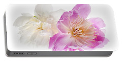Two Peony Flowers Portable Battery Charger