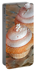 Two Pink Cupcakes Art Prints Portable Battery Charger