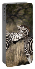 Portable Battery Charger featuring the photograph Two Plains Zebra Botswana by Liz Leyden