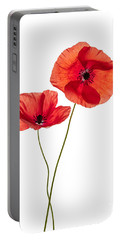 Two Poppy Flowers Portable Battery Charger