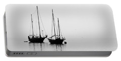 Two Ships In The Fog Portable Battery Charger