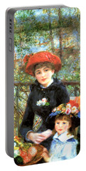 Two Sisters On The Terrace Portable Battery Charger