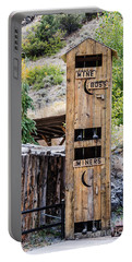 Portable Battery Charger featuring the photograph Two-story Outhouse by Sue Smith