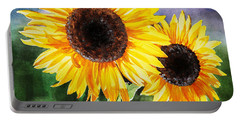 Two Suns Sunflowers Portable Battery Charger