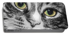 Two Toned Cat Eyes Portable Battery Charger by Jeannette Hunt