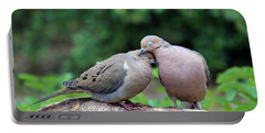 Two Turtle Doves Portable Battery Charger by Cynthia Guinn