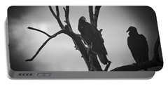 Portable Battery Charger featuring the photograph Two Vultures by Bradley R Youngberg