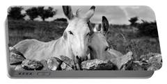 Two White Irish Donkeys Portable Battery Charger