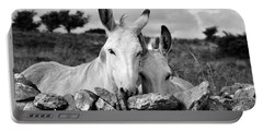 Two White Irish Donkeys Portable Battery Charger