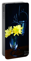 Two Yellow Daisies Portable Battery Charger by Kerri Mortenson