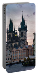 Tyn Cathedral On Old Town Square Portable Battery Charger