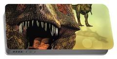 Tyrannosaurus Rex 4 Portable Battery Charger by Bob Orsillo