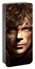 Portable Battery Charger featuring the painting Tyrion Lannister - Peter Dinklage Game Of Thrones Artwork 2 by Sheraz A