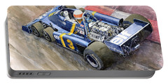 Tyrrell Ford Elf P34 F1 1976 Monaco Gp Jody Scheckter Portable Battery Charger