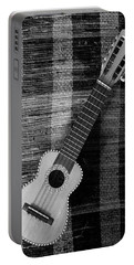 Ukulele Still Life In Black And White Portable Battery Charger