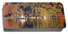 Portable Battery Charger featuring the photograph Ullswater Steamer by Linsey Williams