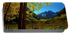 Under Golden Trees Portable Battery Charger by Jeremy Rhoades