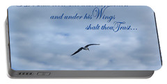 Portable Battery Charger featuring the photograph Under His Wings by Larry Bishop