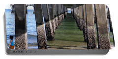 Portable Battery Charger featuring the photograph Under The Boardwalk by Ed Weidman