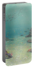 Under The Sea Portable Battery Charger by Pamela  Meredith