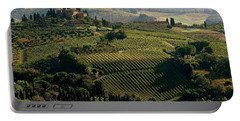 Under The Tuscan Sun Portable Battery Charger by Ira Shander