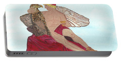 Portable Battery Charger featuring the painting Under The Wings Of Love by Tracey Williams