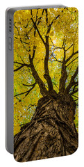 Under The Yellow Canopy Portable Battery Charger by Debra Martz