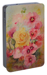 Portable Battery Charger featuring the painting Unexpected by Beatrice Cloake