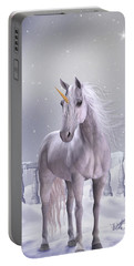 Unicorn In The Snow Portable Battery Charger