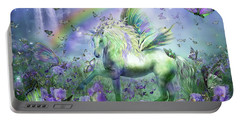 Unicorn Of The Butterflies Portable Battery Charger