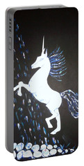 Unicorn Takes A Shower Portable Battery Charger by Veronica Rickard