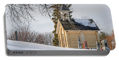 Union Cemetery Chapel Portable Battery Charger by Susan  McMenamin